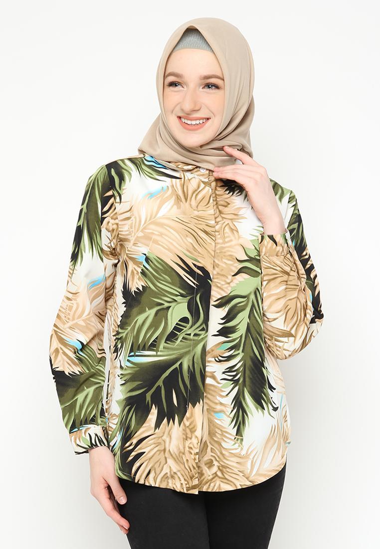 Kemeja Basic Motif Fashion Blouse Hijab Wanita 05a0b0d8af