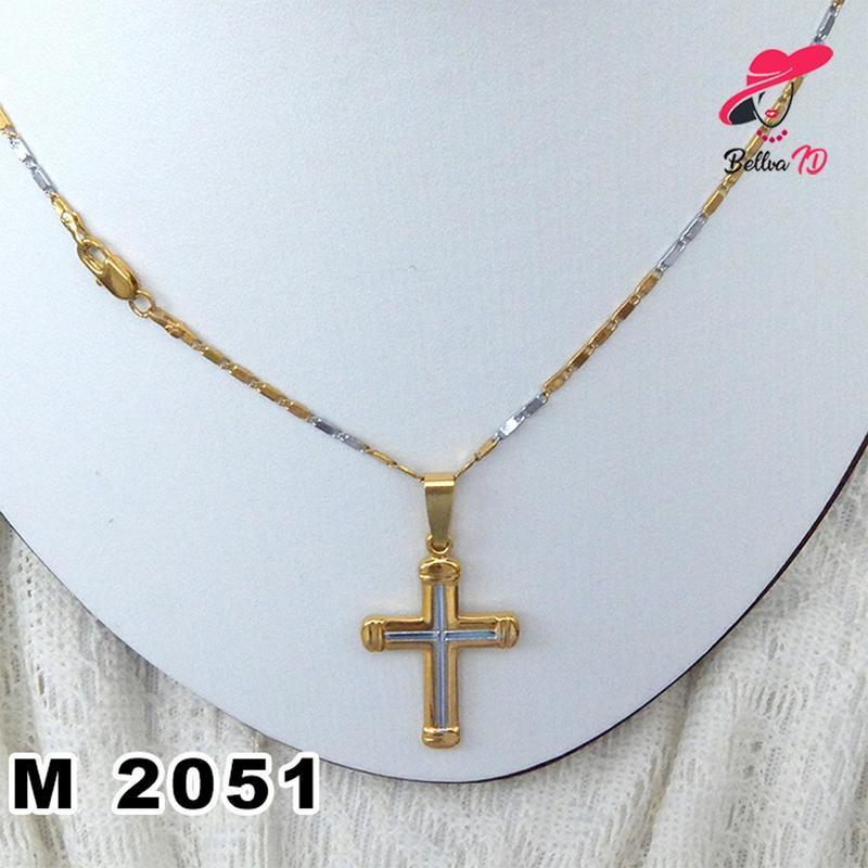 Jual Aksesoris Kalung Lapis Emas Salib Elegan M 2051