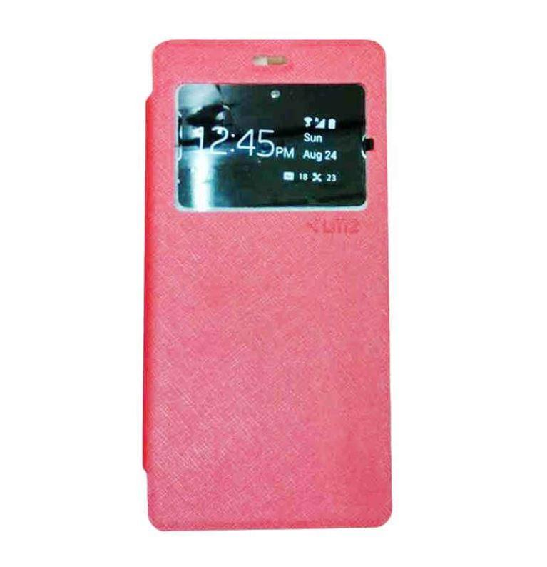Aldora Case For Asus Zenfone MAX / ZC550KL Ume  Flip Cover New Series High Quality Case - Merah Muda