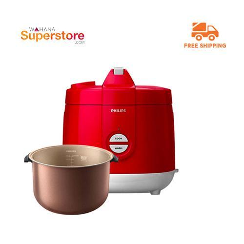 Philips Rice Cooker - HD3129/32 Premium - Red