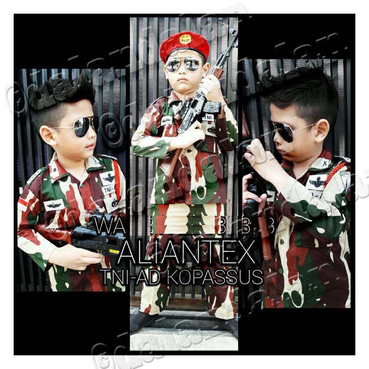 Baju Anak Kopassus Kopasus TNI AU AURI Polisi Tni AD Angkatan Udara Darat Tentara Army Celana Pelui