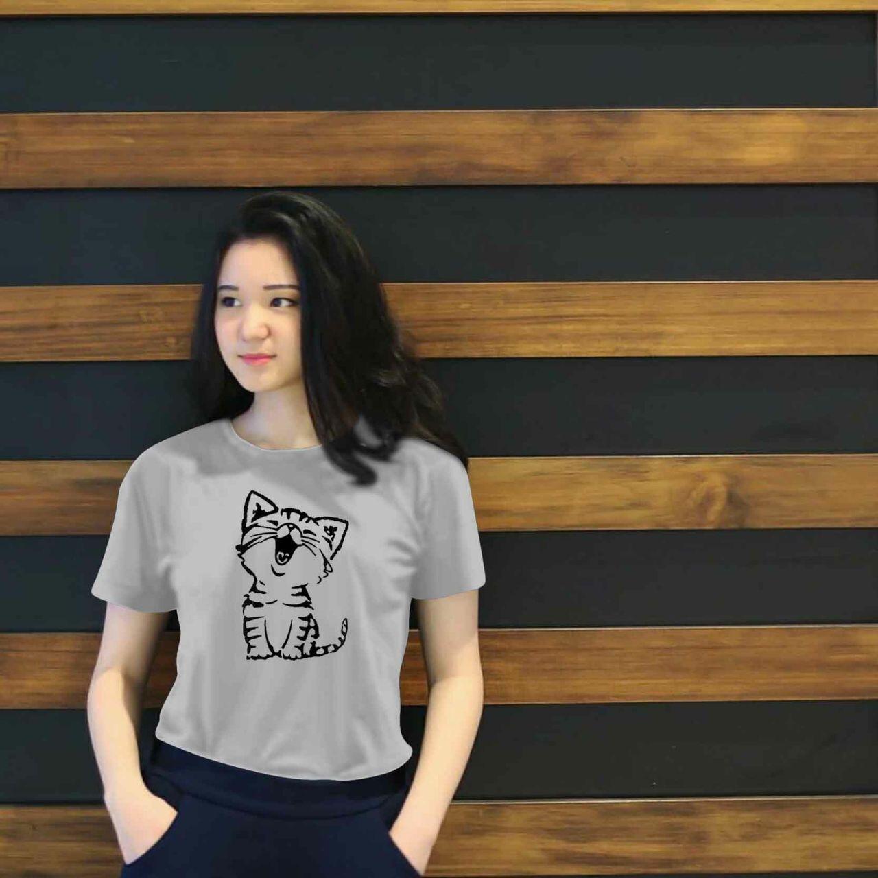 Vanessa Tumblr Tee / T-Shirt kucing / T-shirt Wanita / Kaos Cewek / Tumblr Tee Cewek / Kaos Wanita Murah / Baju Wanita Murah / Kaos Lengan Pendek / Kaos Oblong / Kaos Tulisan