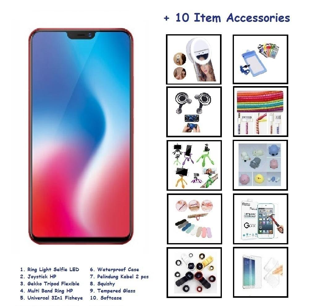 VIVO V9 [4/64GB] + 10 ITEM ACCESSORIES
