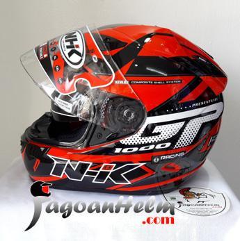NHK Helm GP1000 STAR | GP-1000 RED -Silver| GP 1000 Double Visor || helm kyt / helm bogo / helm full face / helm ink / helm sepeda /helm motor/helm nhk/helm retro/helm anak/helm gm
