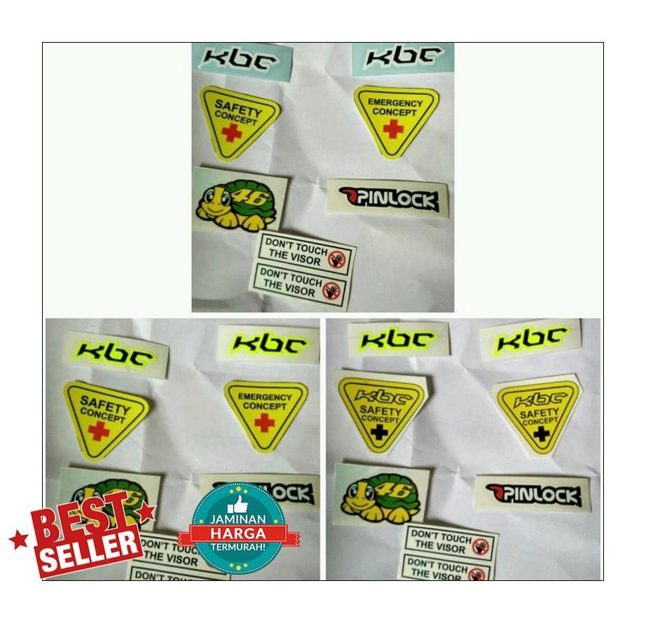 contoh sticker set (tersedia berbagai merk helm)
