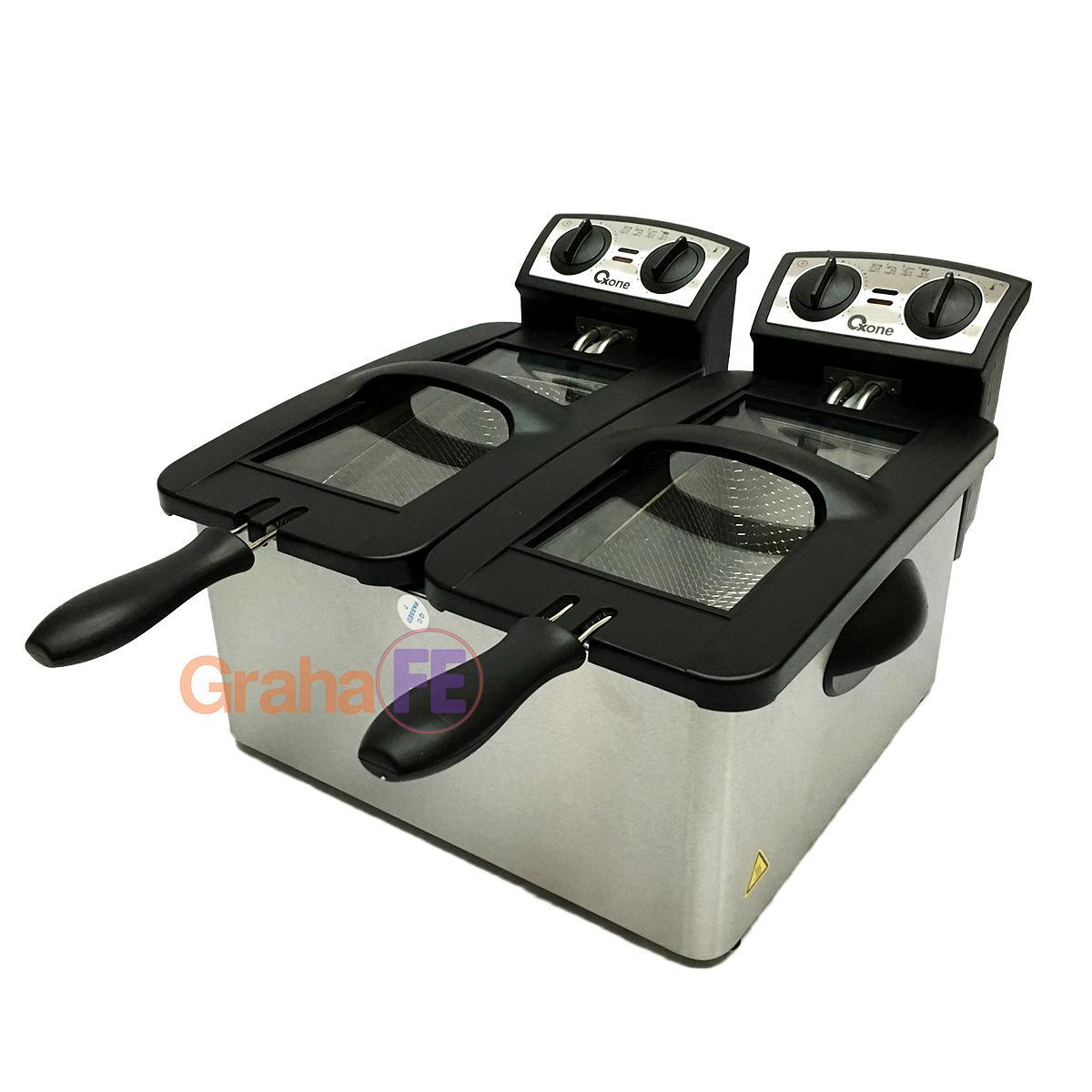 Graha Fe Double Deep Fryer 2 X 3 Liter Penggoreng 2 X 1800 Watt Oxone Ox-990 By Graha Fe.