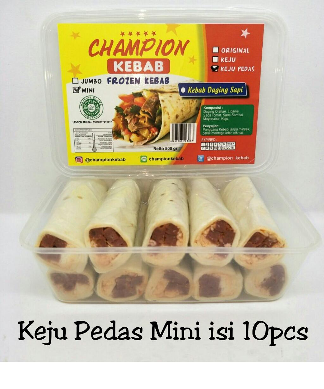 Kebab Frozen Sapi Keju Pedas Mini Isi 10pcs Halal Mui No. 03010017410617. By Belibeli Olshop.