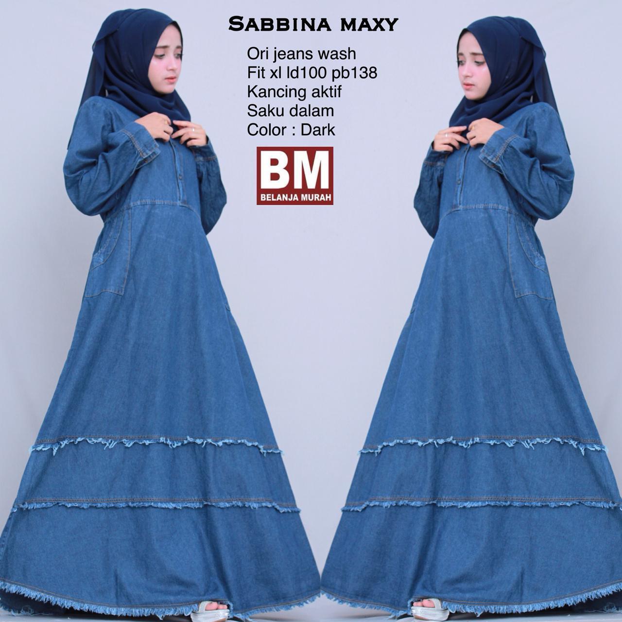 Sabbina Maxy - Maxy Dress - Gamis Jeans - Gamis Model Terbaru - Baju Muslim Berkualitas