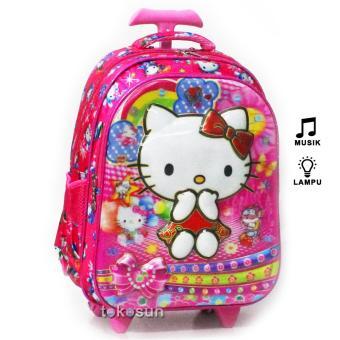 Penjualan Tas Trolley Anak Sekolah SD Hello Kitty 7D Timbul Lampu Musik 2K  terbaik murah - Hanya Rp152.130 af9b33a605