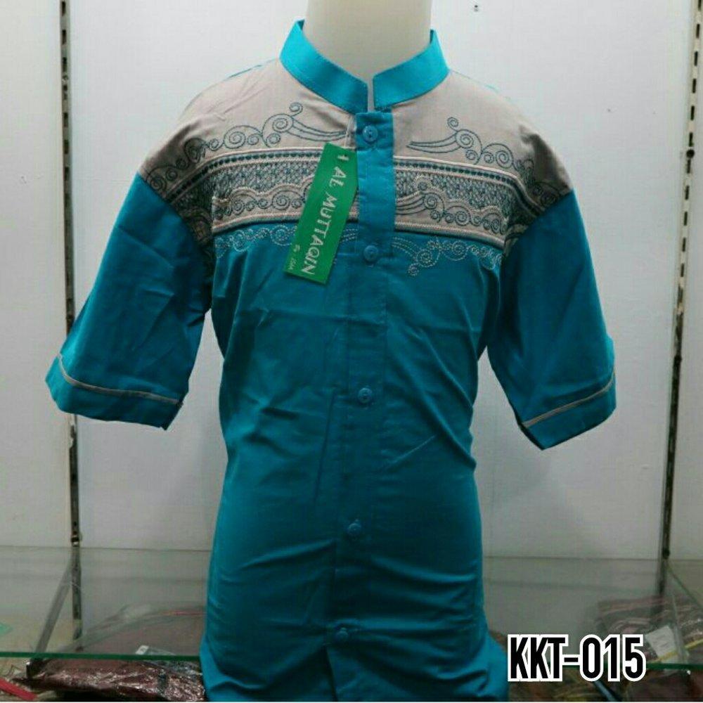 Baju Koko Atasan Anak Baju Muslim Bordir Biru Lengan Pendek Gamis Muslim Anak SD dan SMP Al Muttaqin Murah Terbaru KKT 015 di lapak Al Muttaqin Collection produsenbajukoko