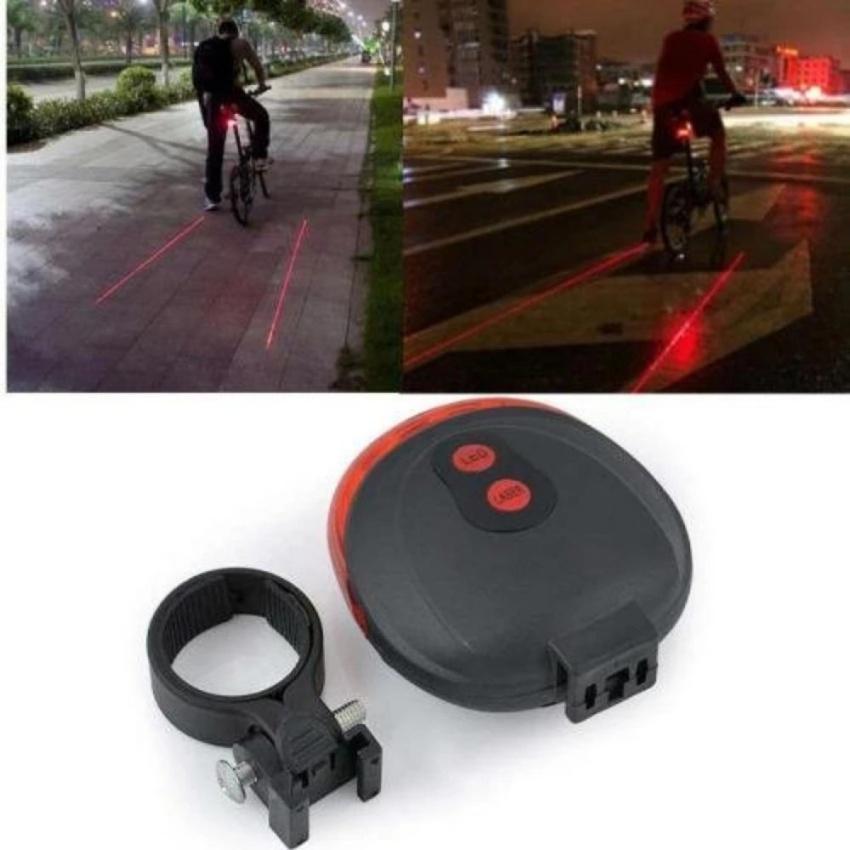 Eigia Bicycle Laser Strobe Taillight 5 Led Lampu Led Sepeda S3018 - Merah By Jumpa Jack.
