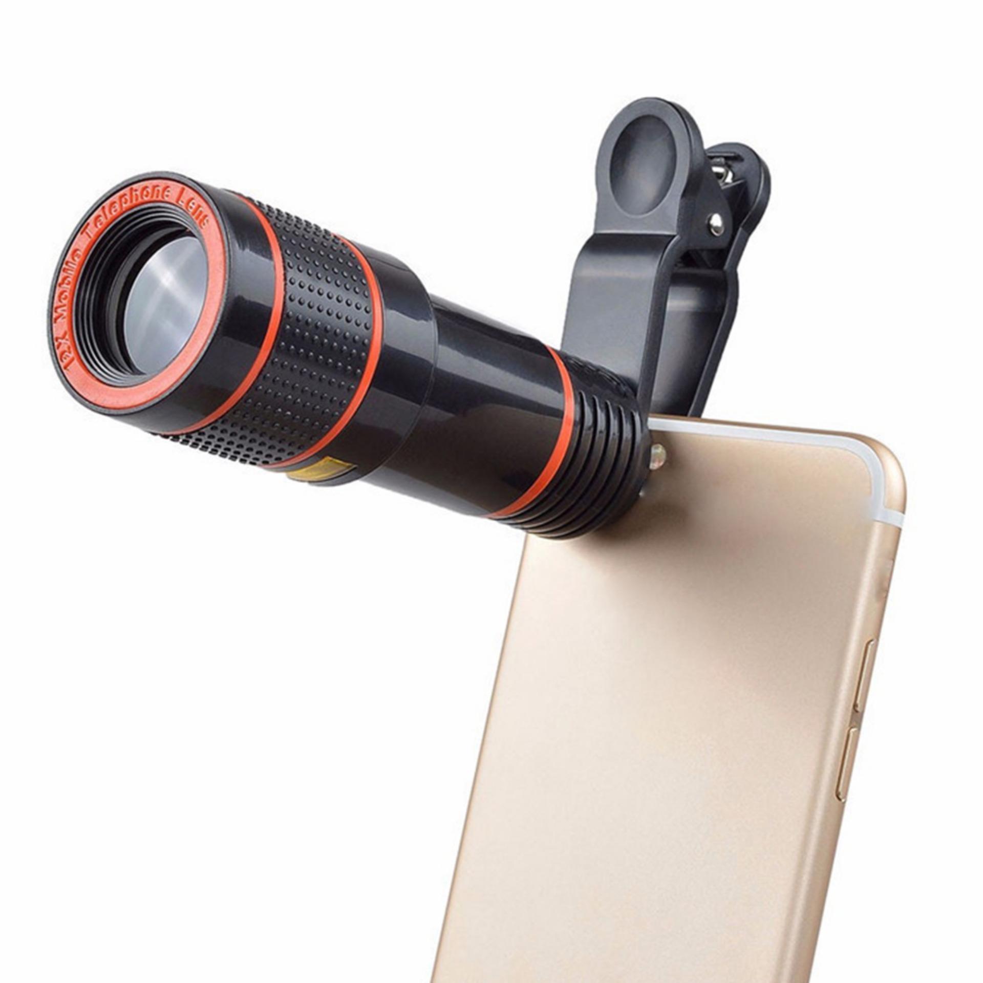 Jual Lensa Kamera Terlengkap Paket Komplit Pembersih Telescope 12x For Smartphone