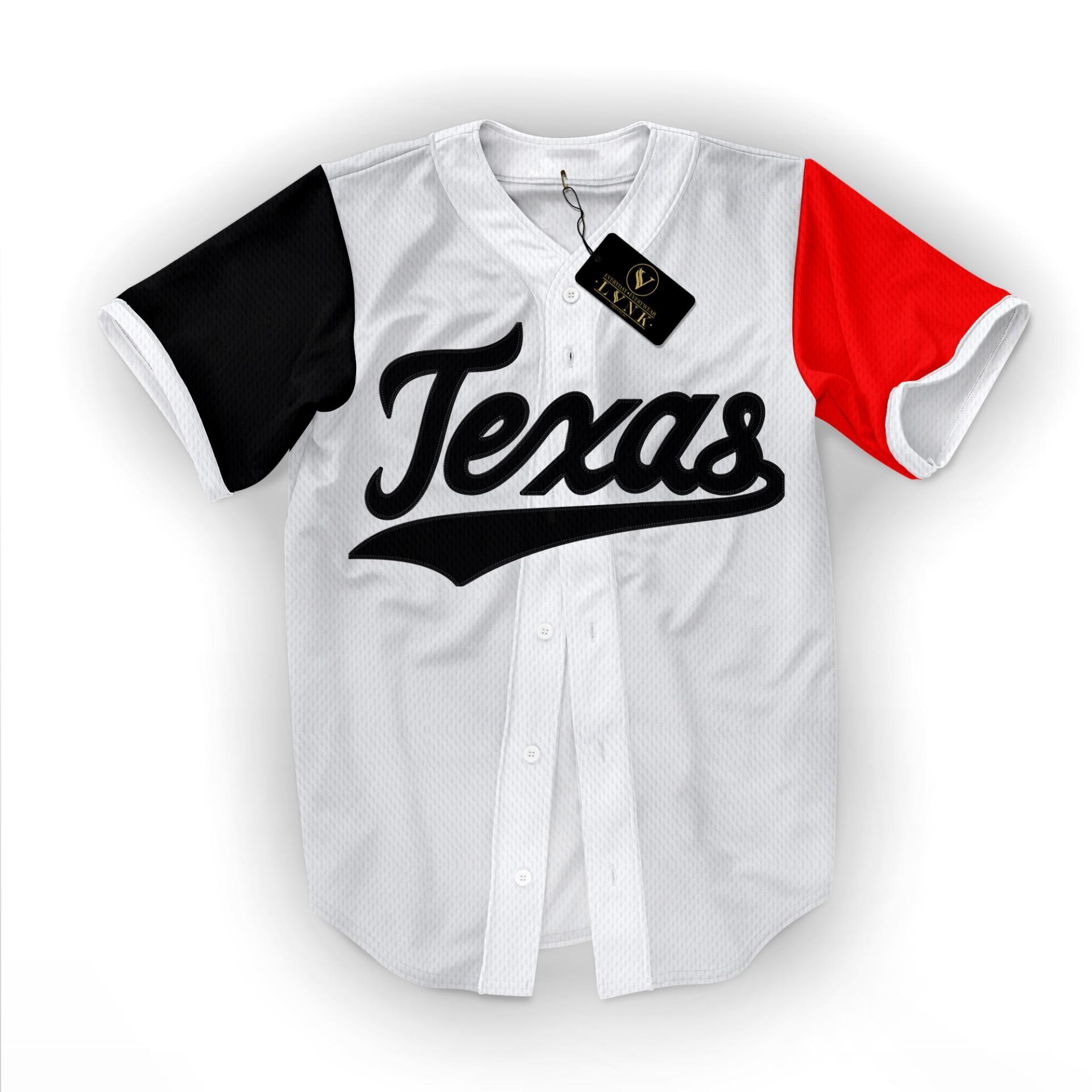 LVNK • Jersey Baseball / Baju Baseball / Baju Hiphop Texas
