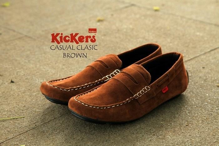 Attaya Sepatu Kickers Cewek Casual Slip On Santai Sintetis K05 ... 8ea0c837a7