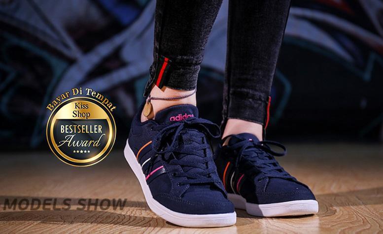 Kissshop-Sepatu Sneakers Olahraga List Pelangi Ys 04