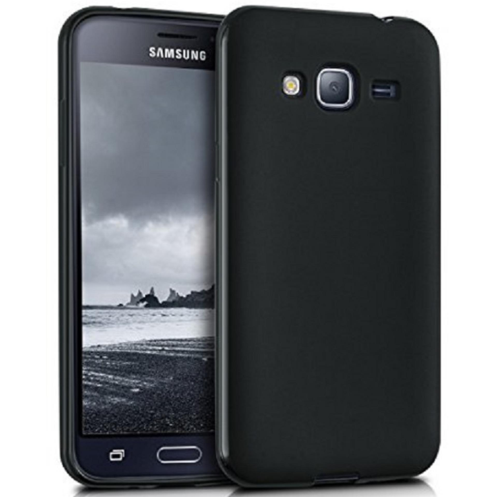 DarkNight for Samsung Galaxy J3 (Lama/Pertama) / J300 / J310 / J320 / 4G LTE / Duos| Slim Case Black Matte Softcase Premium (Anti Minyak/Anti Sidik Jari) - Hitam Doff