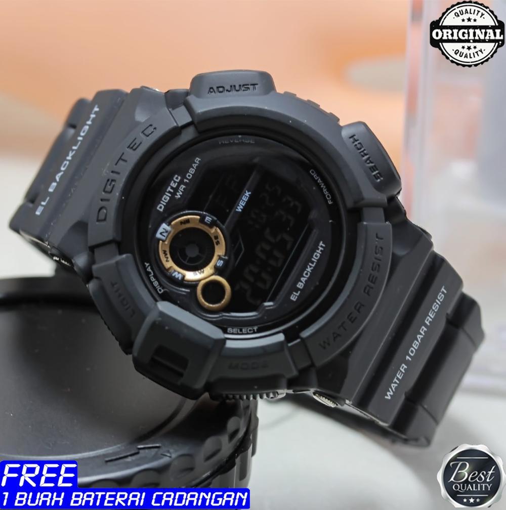 Jam tangan sport - Digitec - Display digital - original - water resist - garansi 1