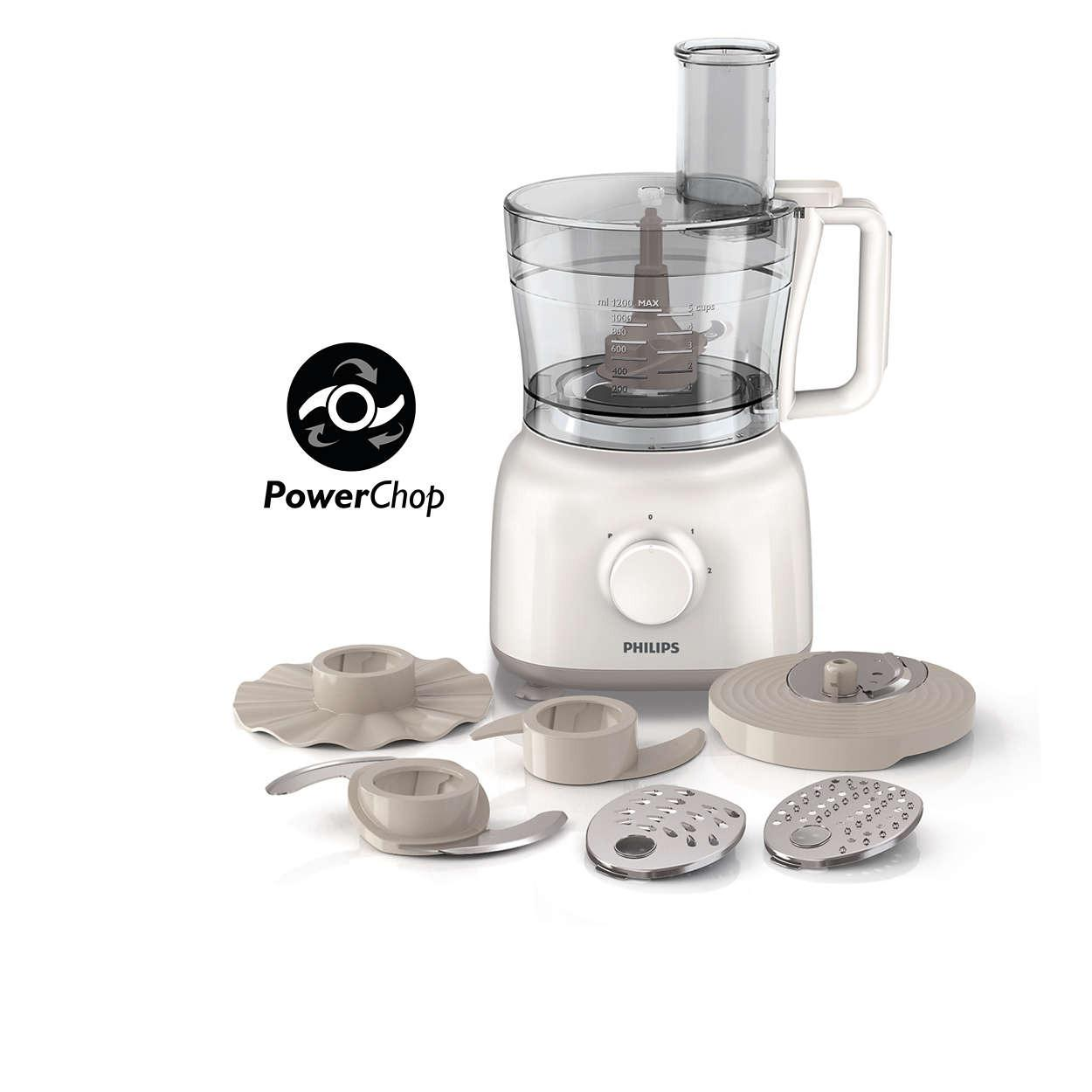 Philips HR-7627 Food Processor - Putih