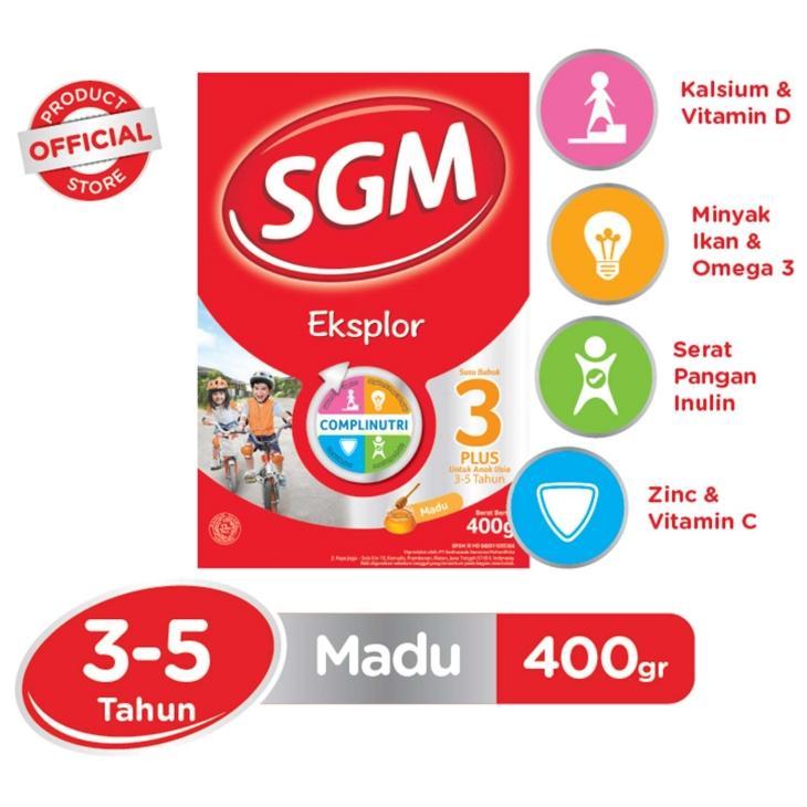 Sgm Eksplor 3+ Madu Box 400gr By Mitrasususiliwangi.