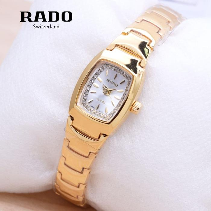 RADO KECIL RANTAI GOLD COVER WHITE
