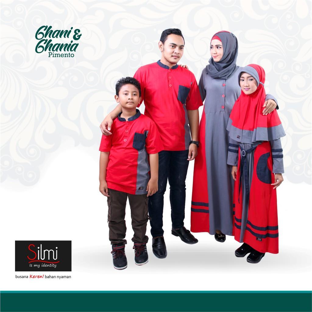 Baju Couple Keluarga Busana Muslim Sarimbit Gamis Syari Koko Pria Anak Wanita Lebaran / GHANI GHANIA (Koko S,M,L,XL)