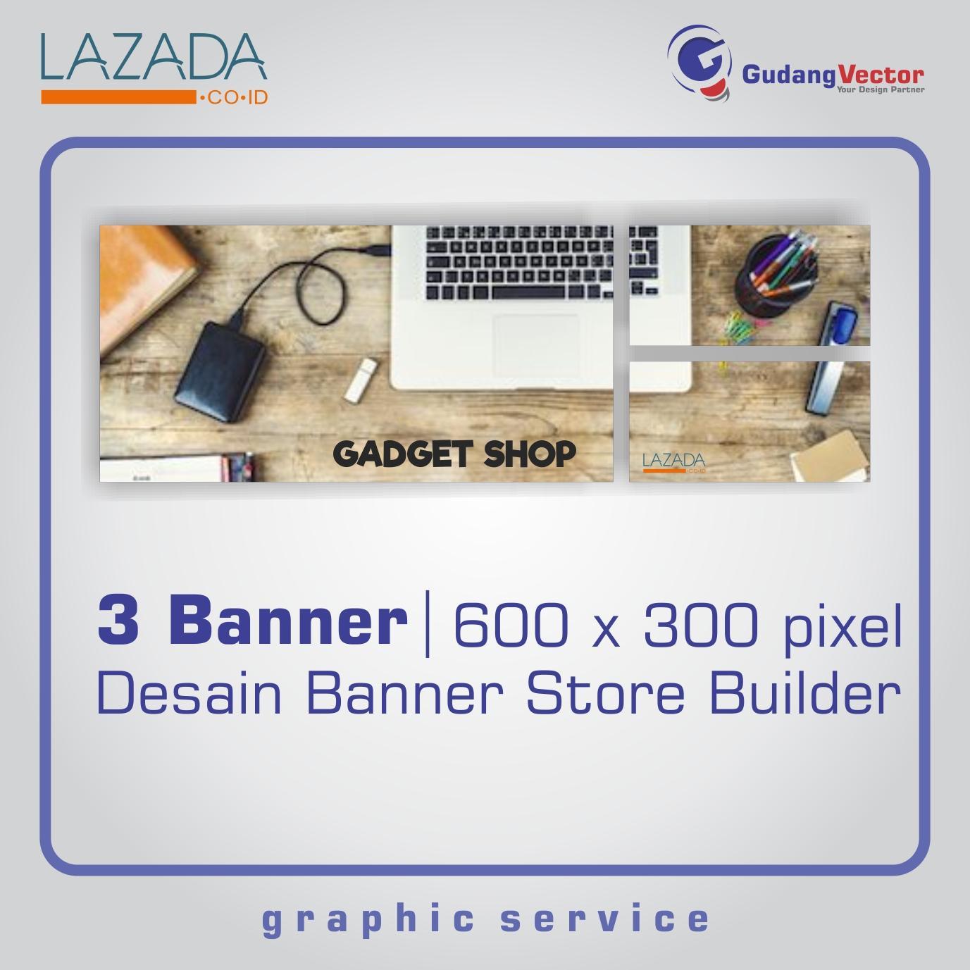 GUDANG VECTOR - Desain Toko Store Builder - (3 Banners) Gadget Theme Vintage - 600x300 px