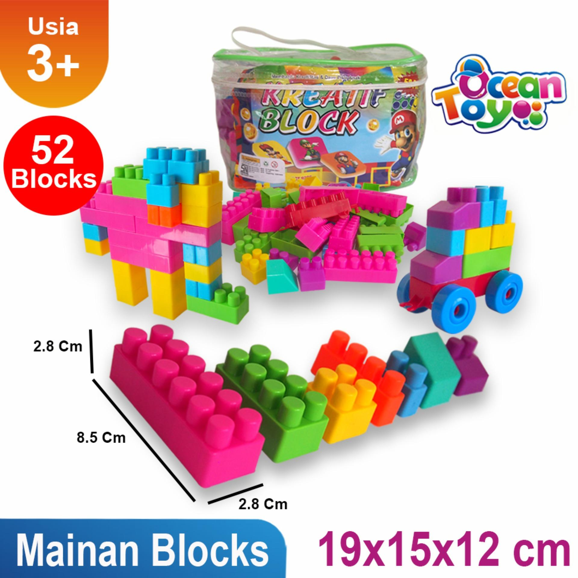 Mainan Balok Susunan Funny Bricks Lego Susun Anak Perempuan Edukatif Edukasi Laki Ocean Toy Block Creative Modern Oct9206