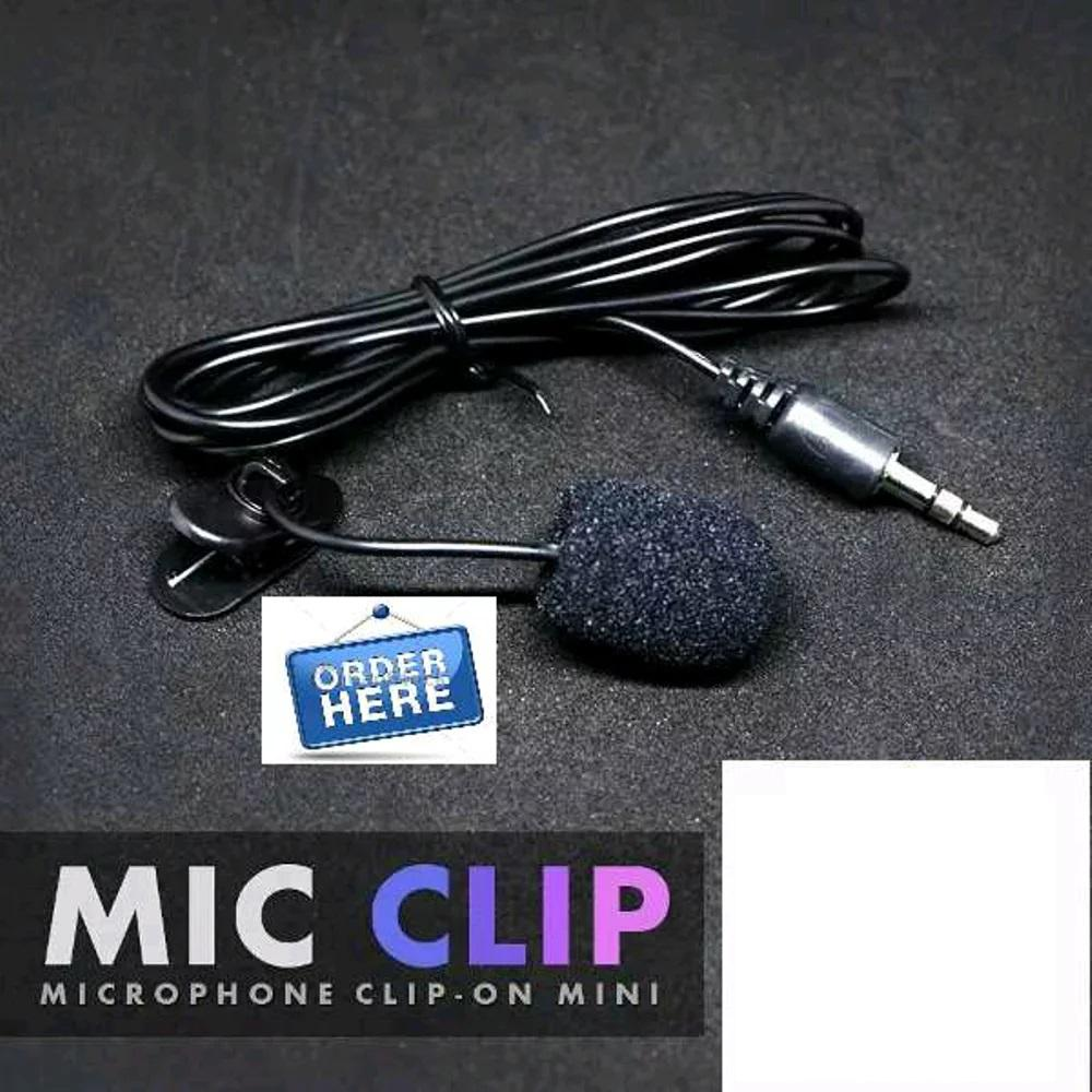 MICROPHONE MIC CLIP ON MIC 3.5MM FOR SMARTPHONE - PC MURAH MERIAH