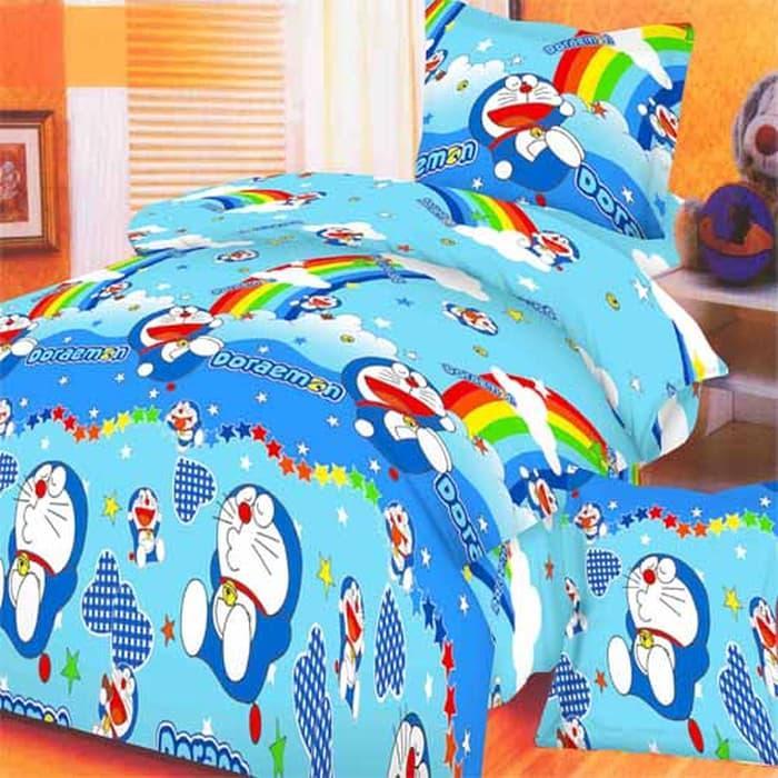 Rosewell Bedcover Microtex Disperse + Sp 180x200cm - Doraemon ||| sprei kintakun my love kintakun 180x200 bonita polos lady rose katun jepang waterproof 160x200 bed cover set california