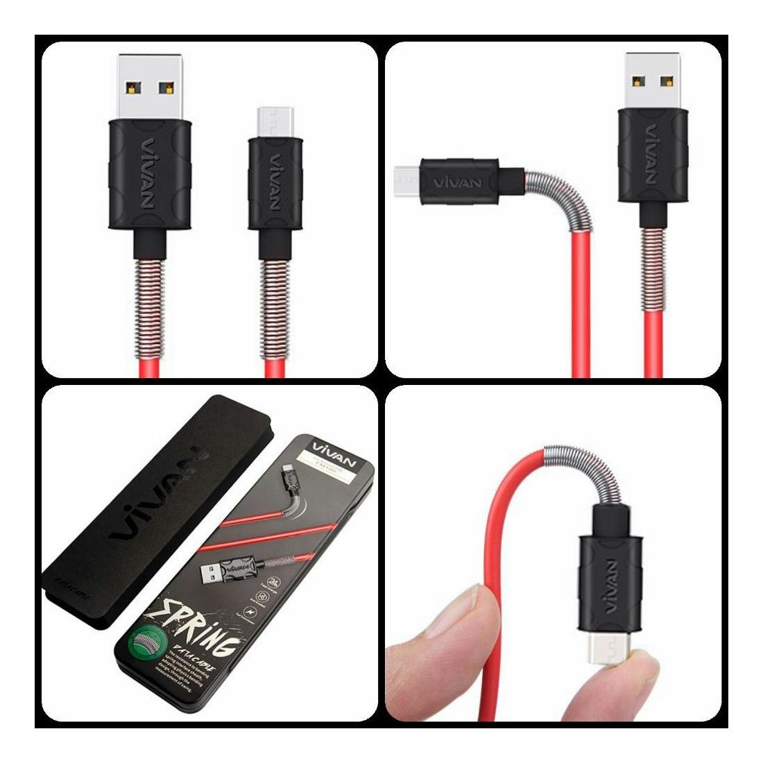 Kabel Charger Data Smartphone Iphone 4 Flat Wellcomm Hitam Vivan Fm100 24a 1m Spring Micro Usb Cable For Andoid