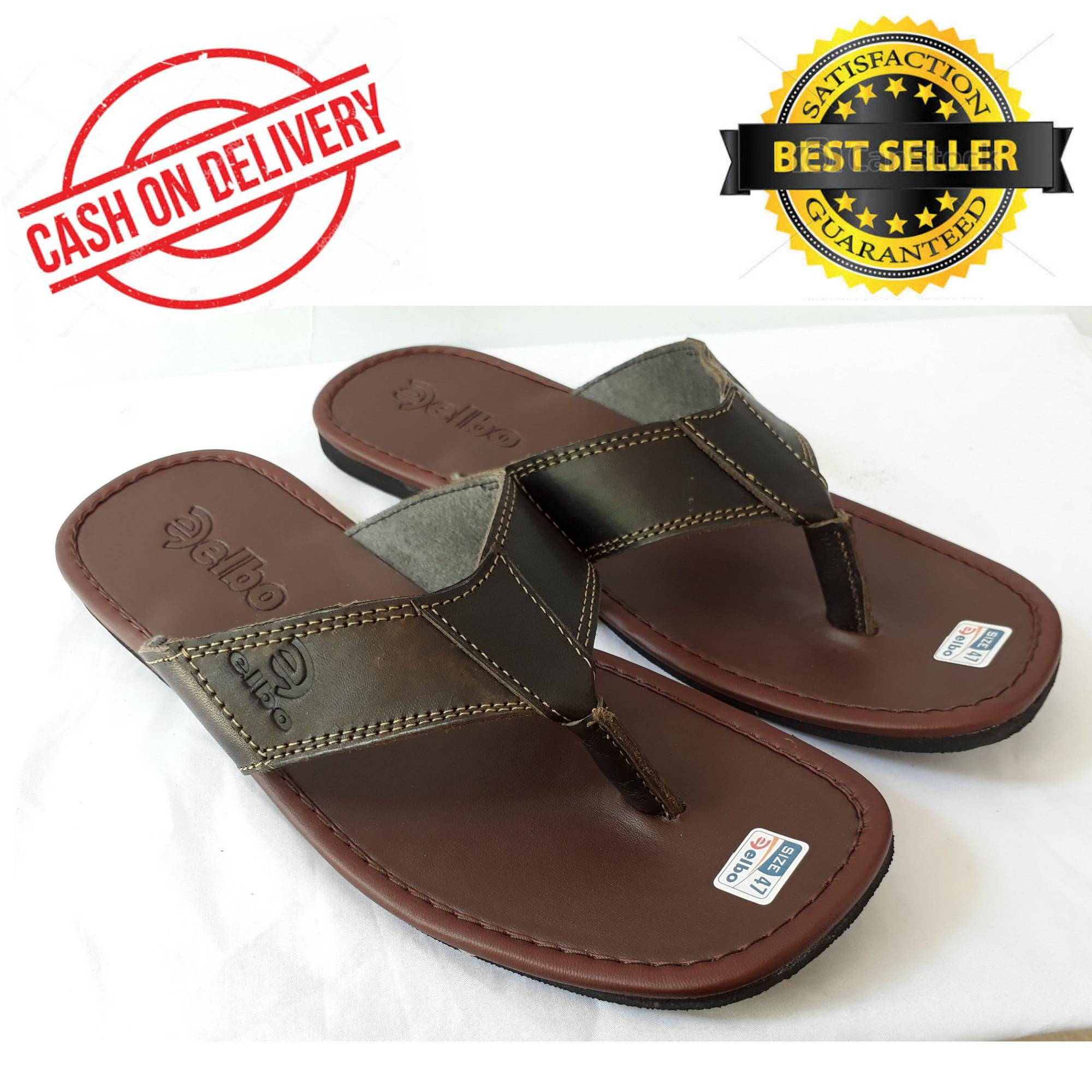 Sandal Pria Japit Jumbo Sandal BIG SIZE 44 47 Casual elbo Coklat