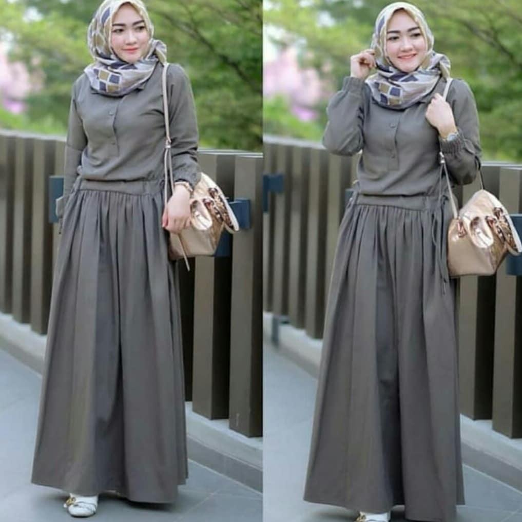 Fashion Muslim Gamis Sadira Dress Balloteli   Baju Muslim Wanita Syari Set    Gaun Muslimah   cefa4aa6c3