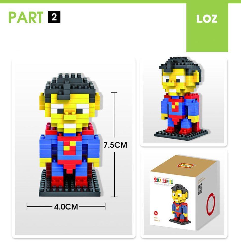 LOZ Nano Diamond Block | SUPERMAN | Mainan Lego Mini Brick