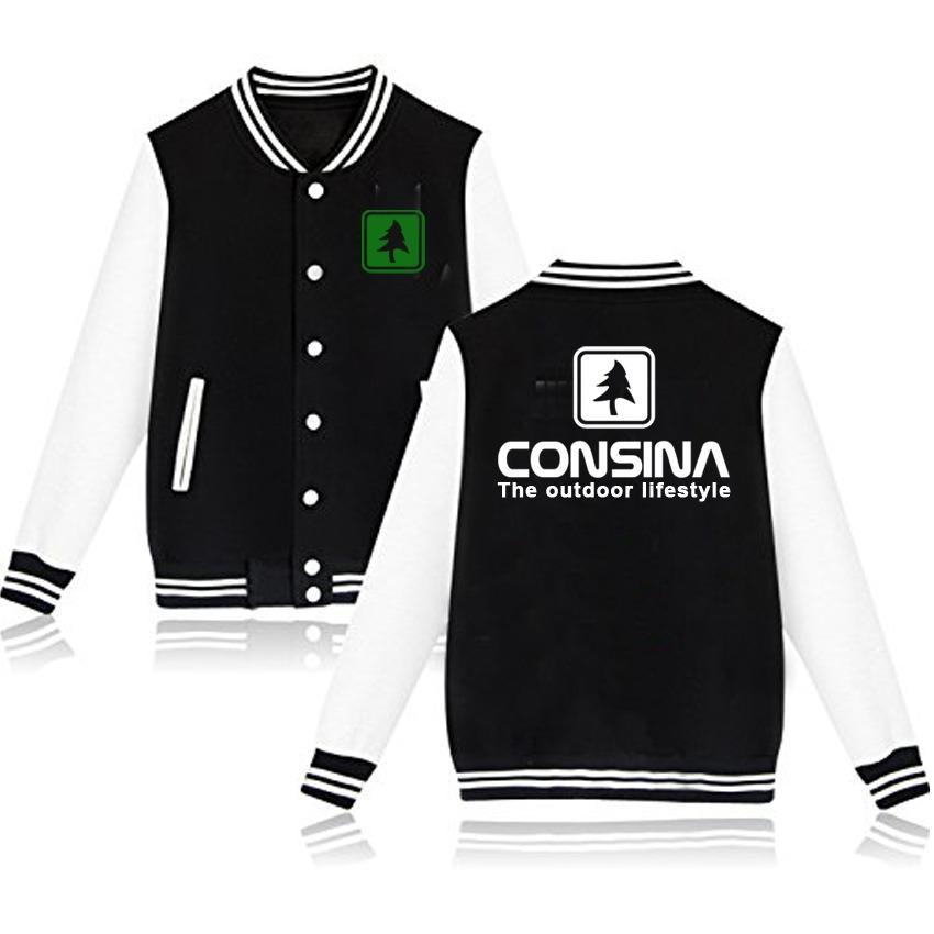 Brother Store Jaket Baseball Consina White Green - Black White Premium