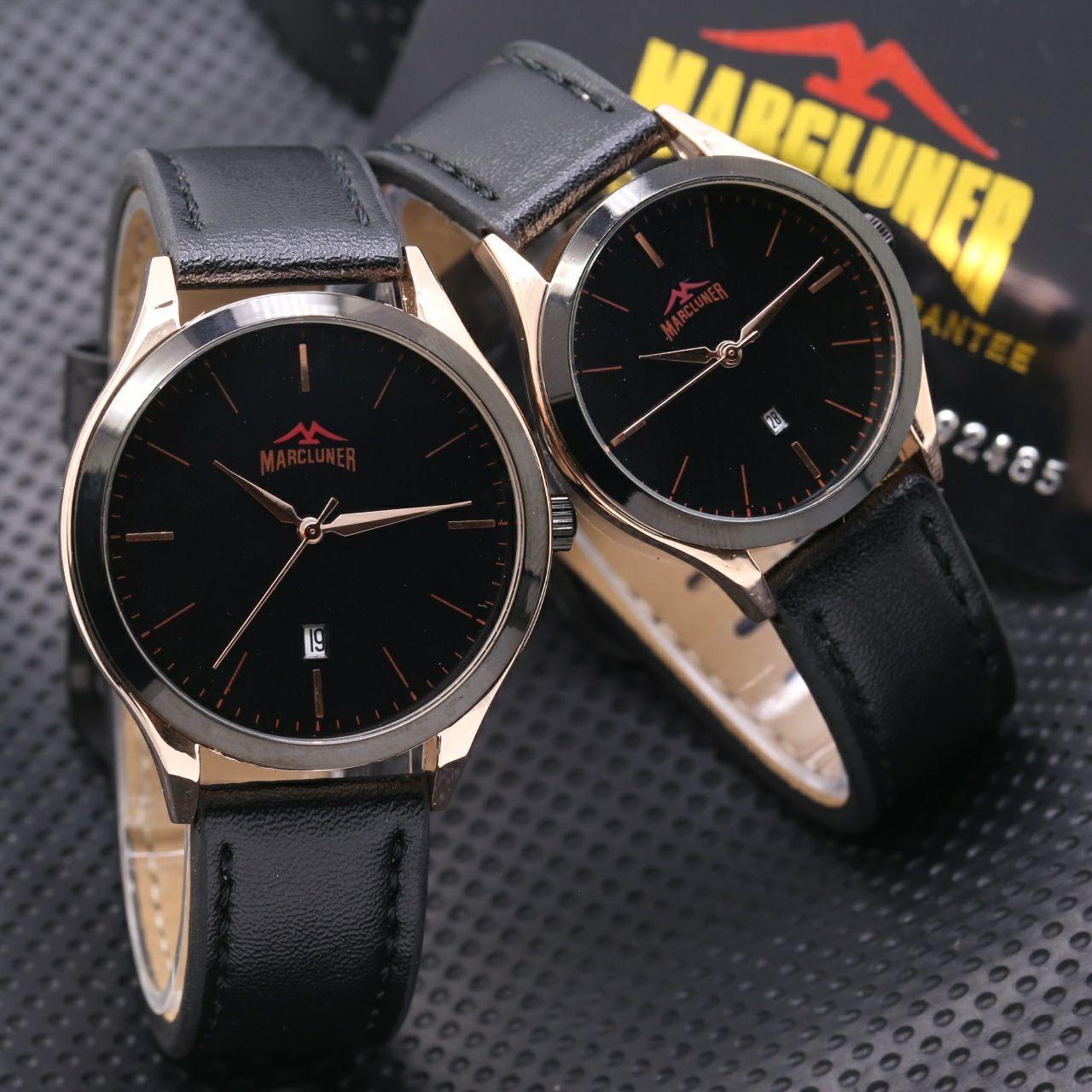 Jam Tangan Couple Casual Pria Wanita Marcluner Original Garansi 1 Tahun Include Luxury Box