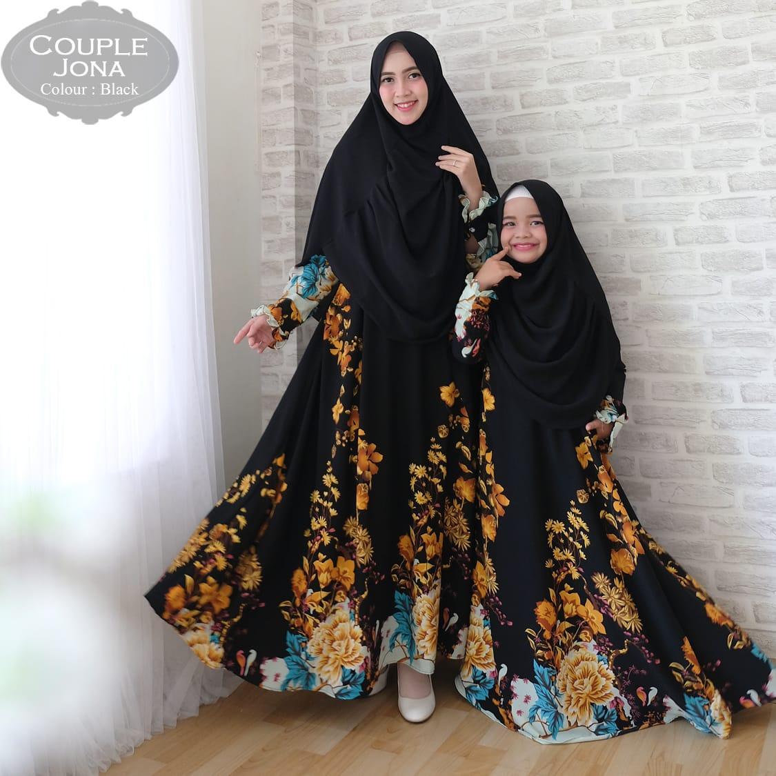 key&kay88 gamis muslim syar'i monalisa jona kyara ibu dan anak couple