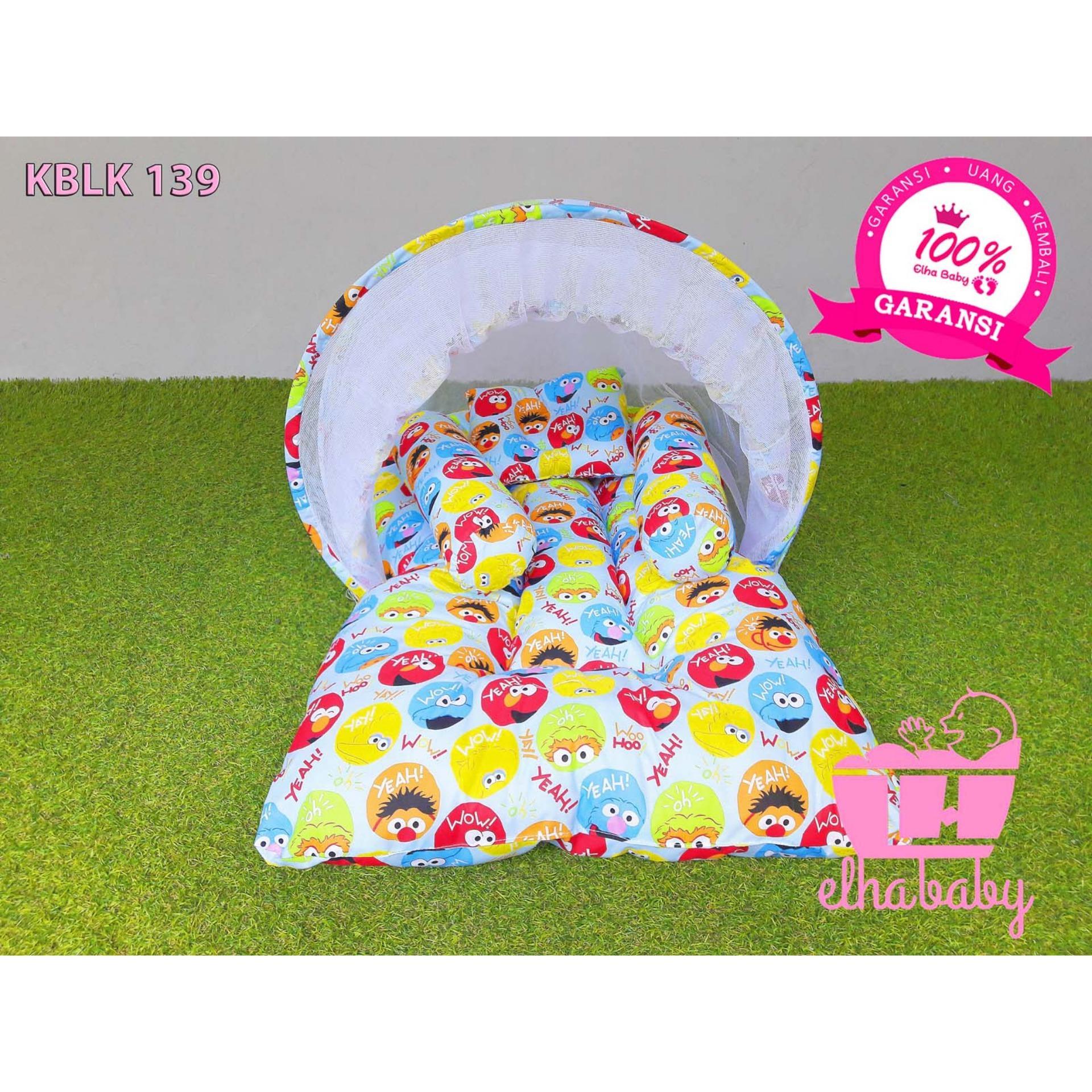 Grosir Elhababy KBLK 139 Kasur Bayi Lipat Kelambu Sesame Street Elmo Edisi 2 I Tempat Tidur Bayi I Babyshop