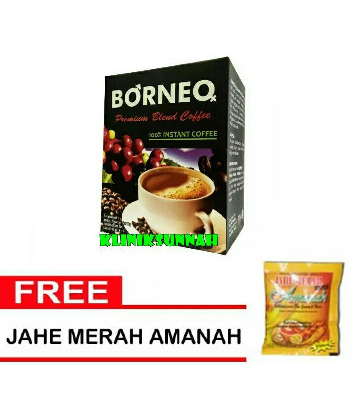 Kopi Borneo Kesehatan Pria - isi 5 sachet+ Jahe Amanah