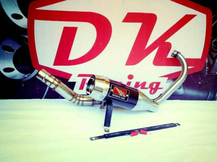 Knalpot Racing Yamaha Jupiter Mx King 150 Fullsistem Werkes Usa Carbon High Quality
