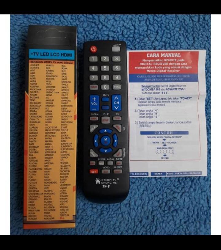 remote / remot tv led / lcd sharp / samsung / polytron / toshiba / lg