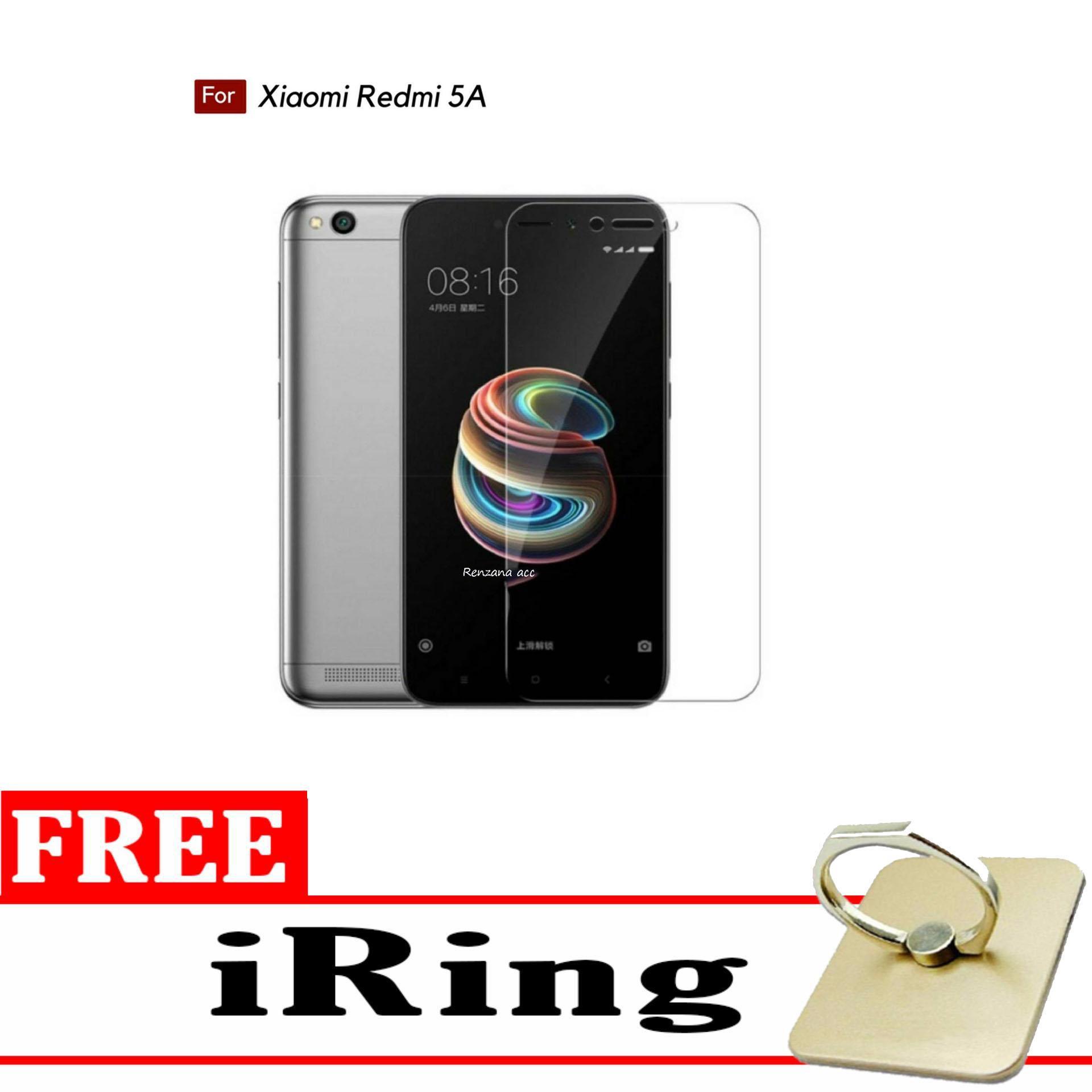 Tempered Glass Screen Protector Anti Gores Kaca Xiaomi Redmi 5A - Clea + FREE Iring