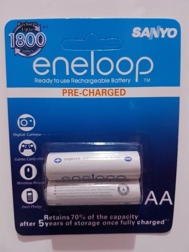 Baterai/battery Sanyo Eneloop AA rechargeable 2000maH