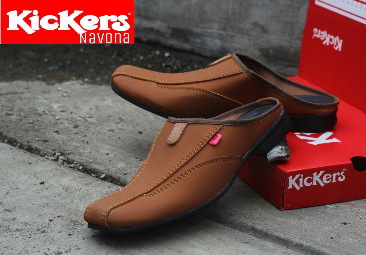 Sepatu Sandal Kickers Bustong Navona Kulit Sintetis Premium - Sepatu Sandal  Pantofel Pria Kickers - Sandal b1cb13f6fa