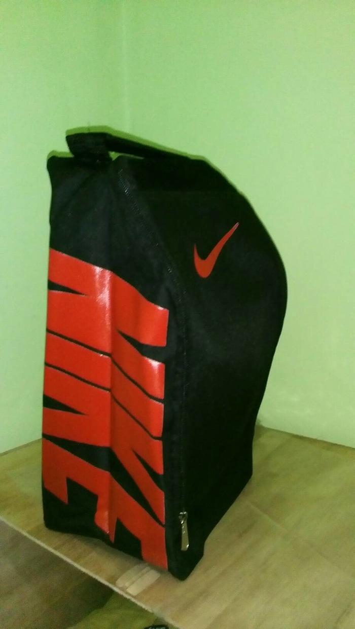 Harga Spesial!! Tas Sepatu Futsal Nike Hitam Sablon Merah - ready stock
