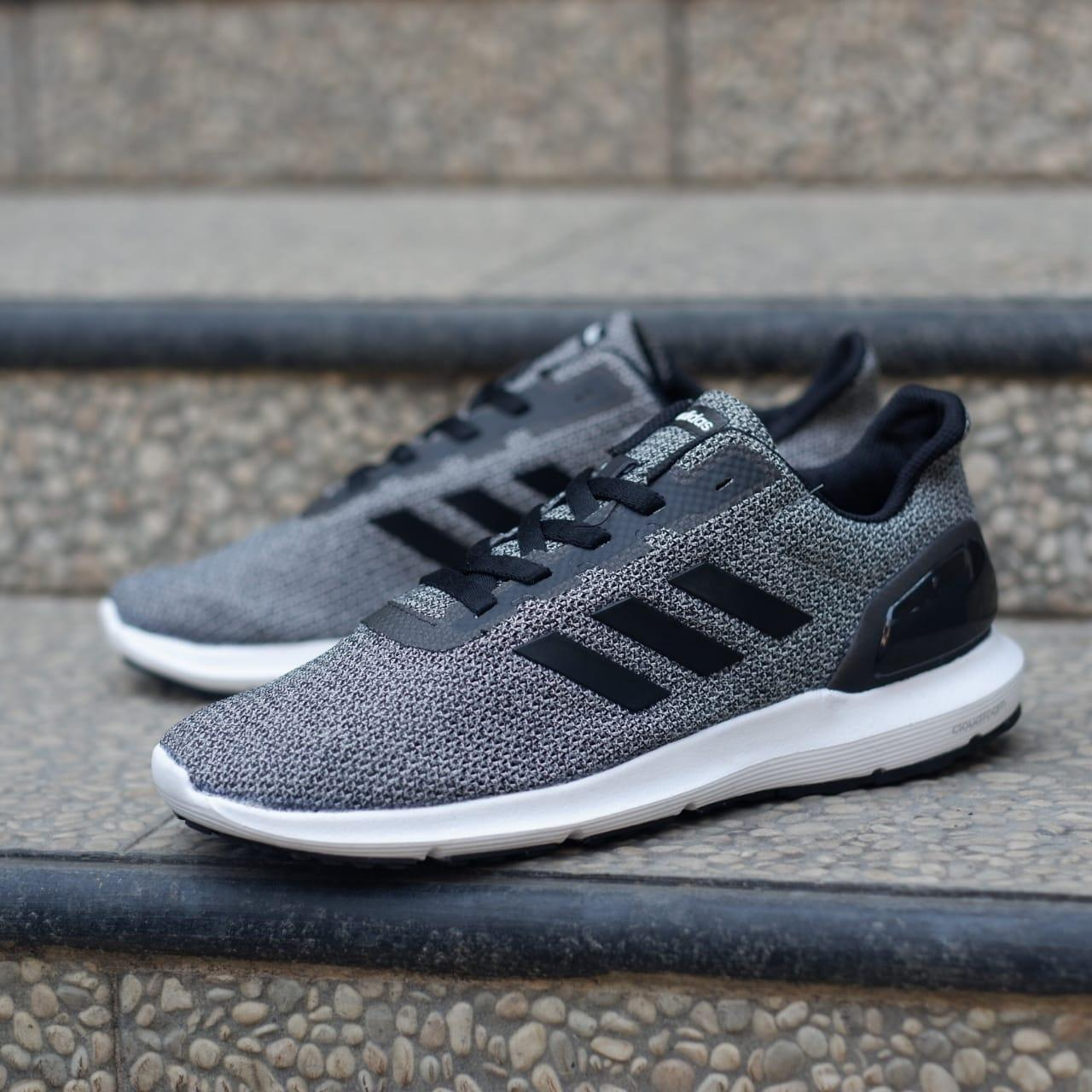 Sepatu Adidas ORIGINAL Cosmic II Run Grey Black White