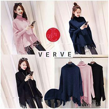 FJCO FJ553 Sweater batwing verve / Sweater wanita / Fashion wanita / Baju hangat wanita