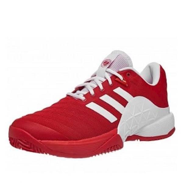 Sepatu Tennis Adidas Barricade 2018 Boost CLAY  - Red/White Original