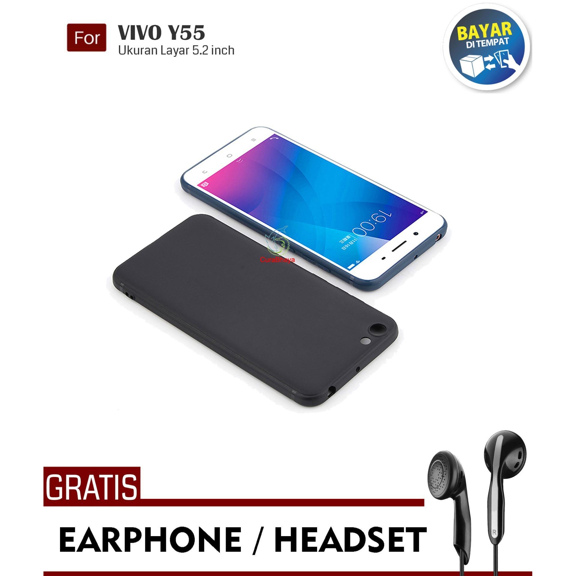 MidNight Vivo Y55 / Y55A / Y55L / Y55 | Slim Case Black Matte Softcase Premium