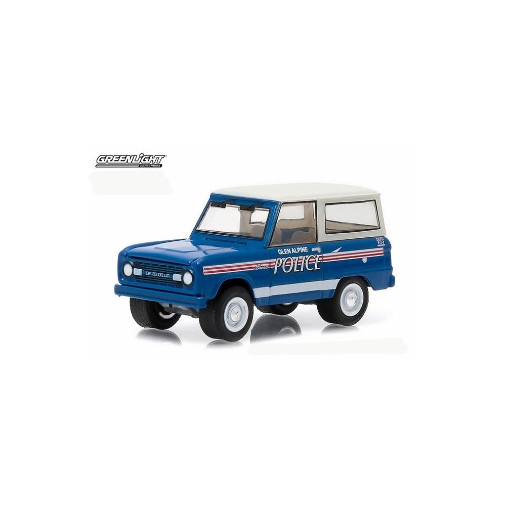 Diecast Greenlight Collectibles Ford Bronco 1967 Greenlight Hot Pursuit Biru