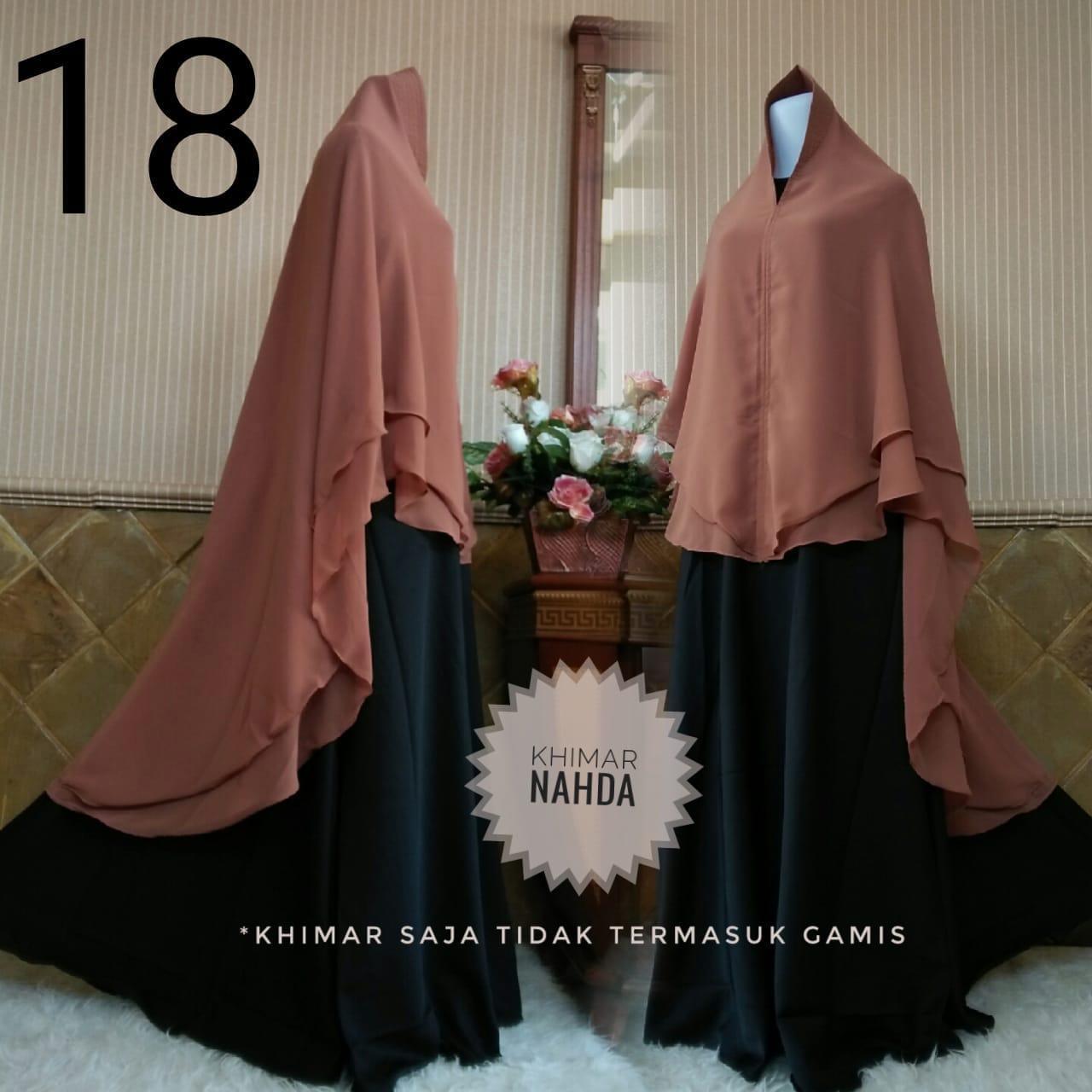Lonicsgamis Khimar syari nahda jilbab ceruty kgimar 2layer hijab murah